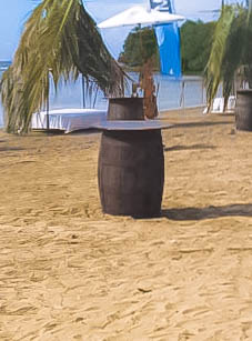 Rum Barrel Table