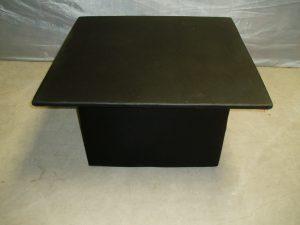 Square Black/White Ottoman Table-0