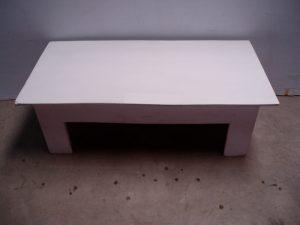 White Rectangular Table-0