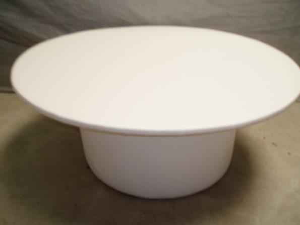 Round White Ottoman Table-0