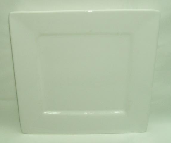 Square White Dinner Plate-0
