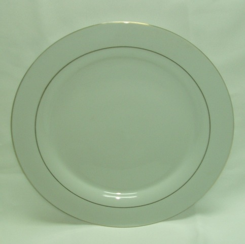 Round Gold Rim Dinner Plate-0