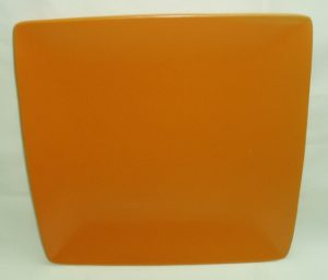 Square Orange Plate-0