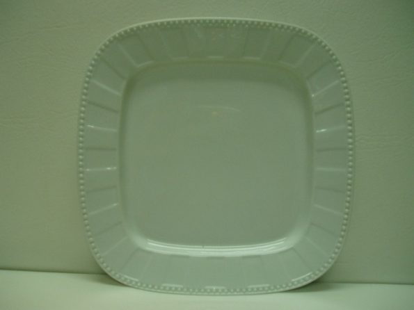 White Decorative Dotted Dinner Plate-0
