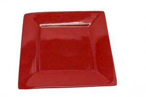 Red Square Dinner Plate-0