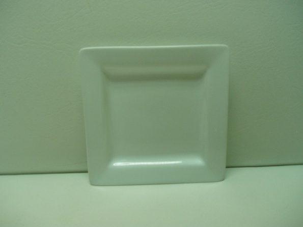 Square White Cake Plate-0