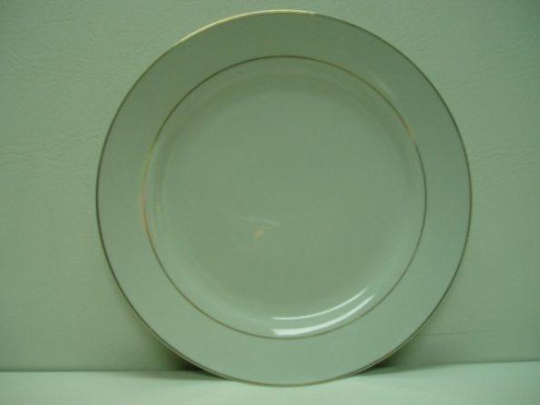 Round Gold Rim Cake Plate-0