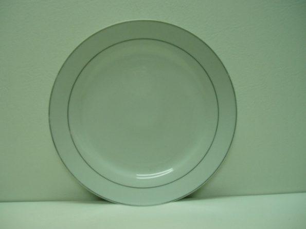 Round Silver Rim Cake Plate-0