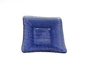 Square - Violet Glass Plate-0