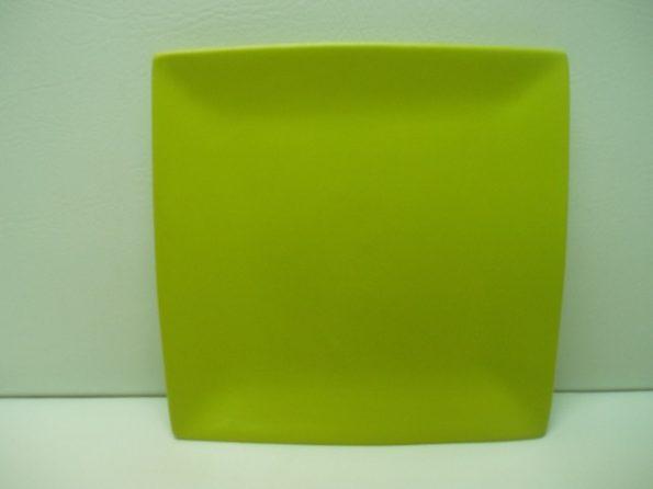 Sq Lime Green Cake Plate-0