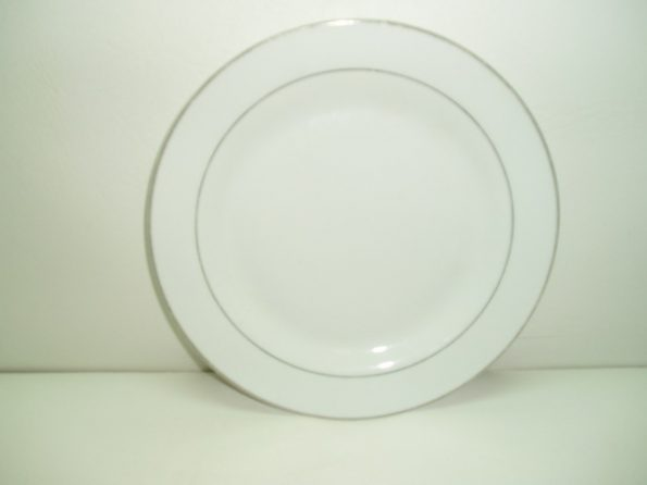 Silver Rim (Breakfast) Plate-0