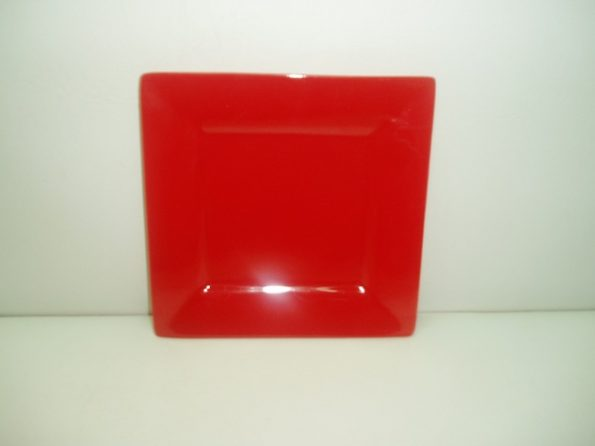 Square Red Plate-0