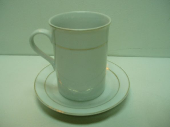 Gold Rim Soup Mugs