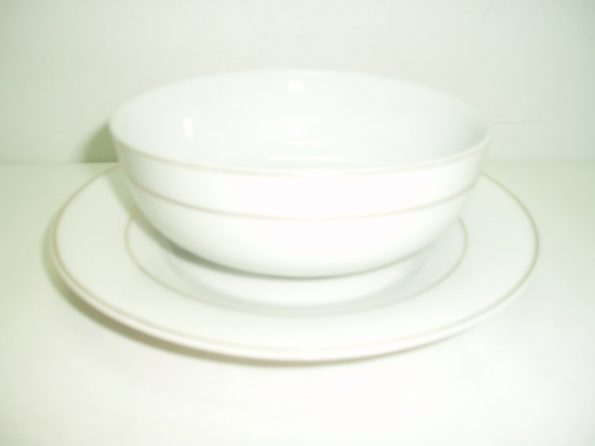 Silver Rim Liner and bowl