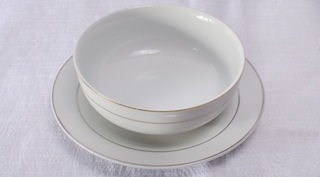 Gold Rim Liner and bowl