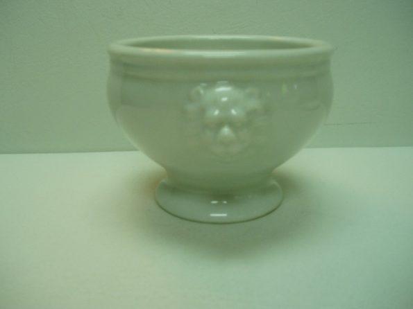 White Soup Bowl W/ Lion Head-0
