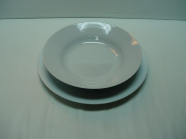 8' Casa Bella Wht. Soup Plate-0