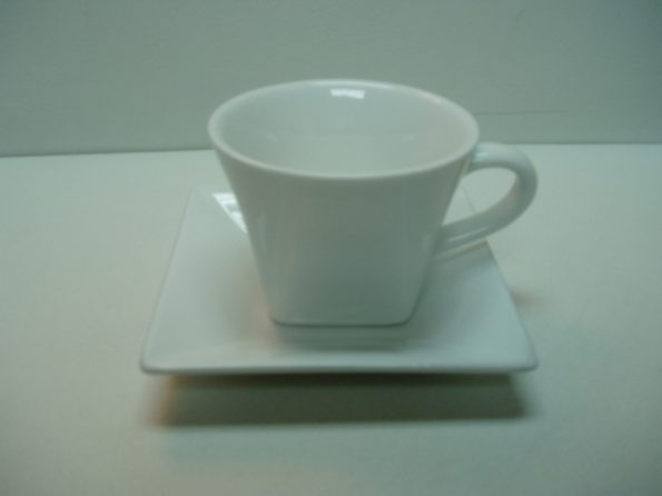 Square Bottom and Round Top - White-0