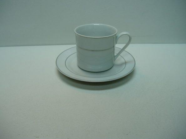 Gold Rim Cup & Sauce-0