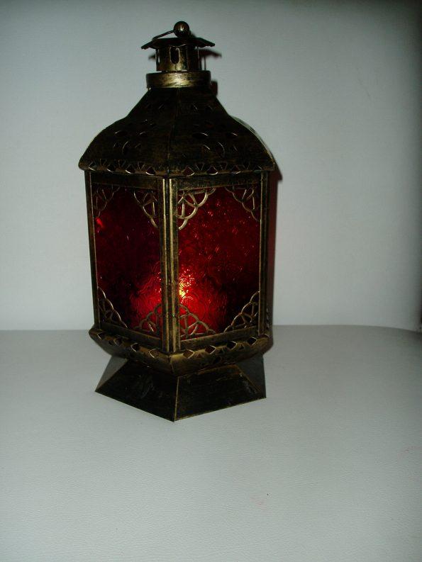 Hanging Moroccan Assorted Coloured Window Lantern-0