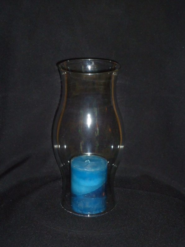 Hurricane Shade Clear Candle Holder (Large)-0