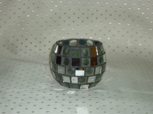 Mosaic Mirror Candle Holder-0