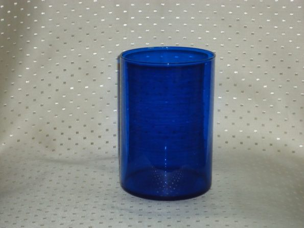 6 Inch Cobalt Blue Cylinder Candle Holder-0