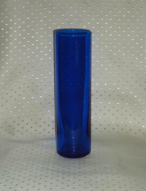10 Inch Cobalt Blue Cylinder Candle Holder-0