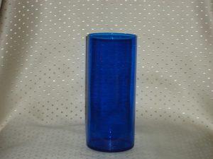 9 Inch Cobalt Blue Cylinder Candle Holder-0