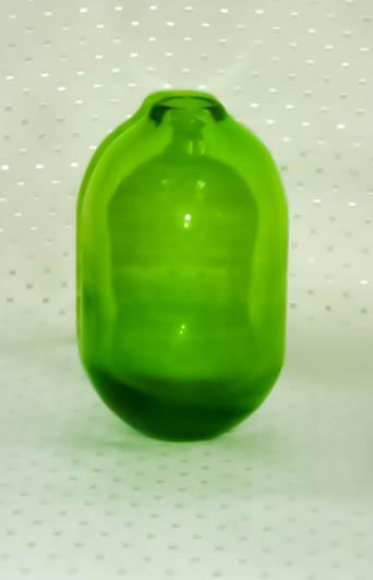 Green Glass Bottle Candle Holder-0