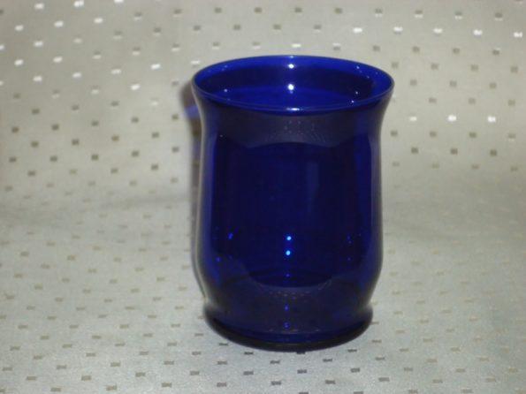 Tulip Cobalt Blue Candle Holder-0