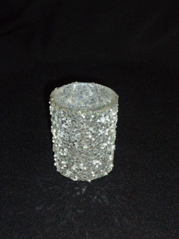 Sparkle Silver Voltive Candle Holder-0