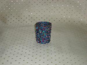 Sparkle Blue Voltive Candle Holder-0