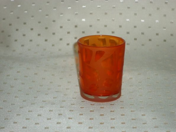 Mosaic Voltive Orange Candle Holder-0
