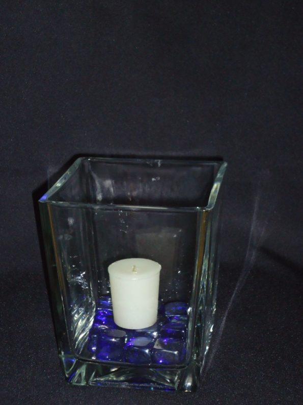 Ikea Square 6 Inch Kanist Candle Holder/ Vase-0