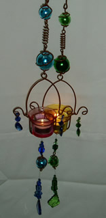 Tealite Hanging Coloured Cups Candle Holders-0