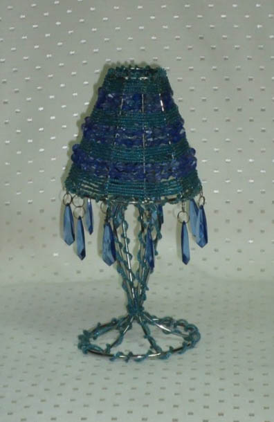 Umbrella - Shades Of Blue Candle Holder (Small)-0