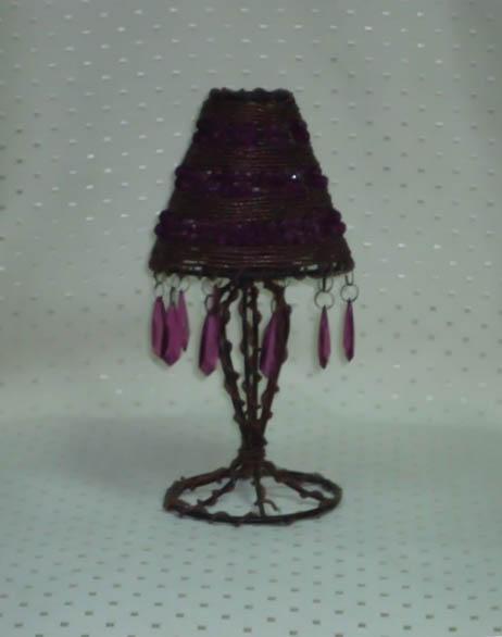 Umbrella- Shades Of Purple Candle Holder (Small)-0