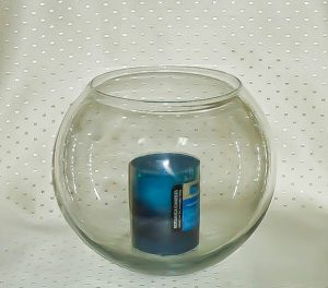 Fish Bowl Candle Holder Clear (Medium)-0
