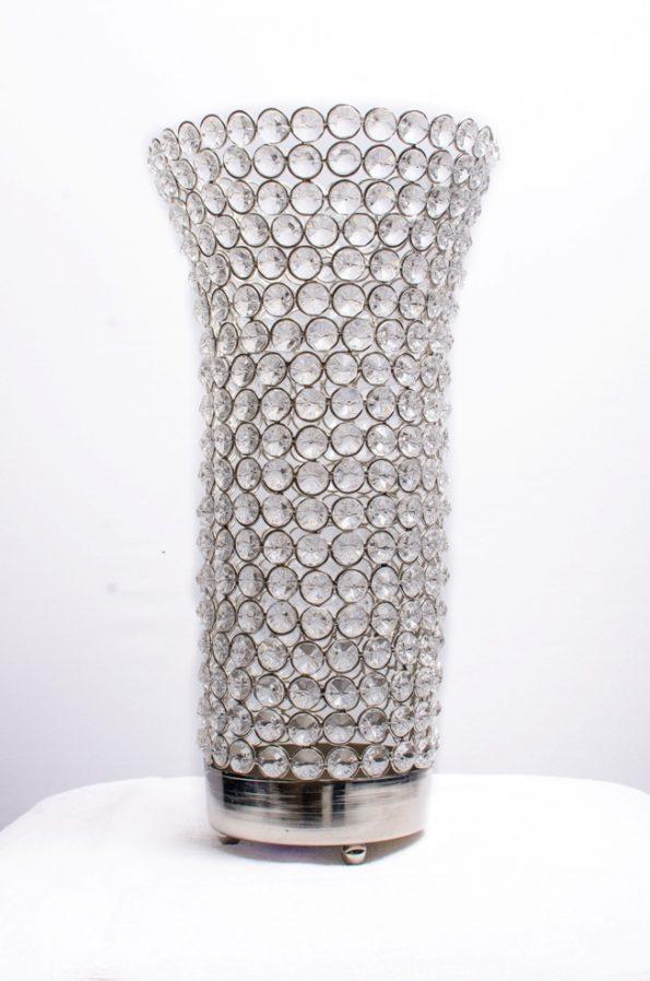 Beaded Crystal Candle Holder/Vase-0