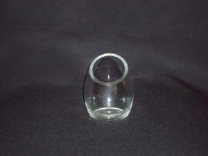 Teardrop Candle Holder Clear