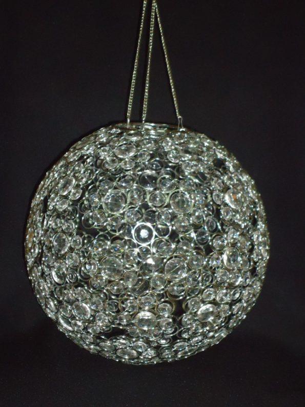 Crystal/Silver Globe Light (Medium)-0