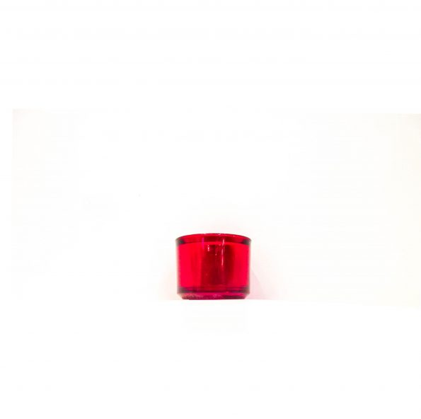 Red Round Tealite Candle Holder-0