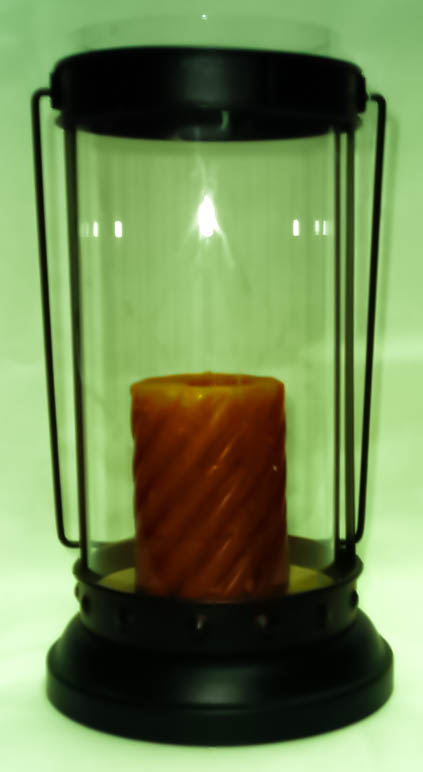 Black Cylindrical Lantern-0