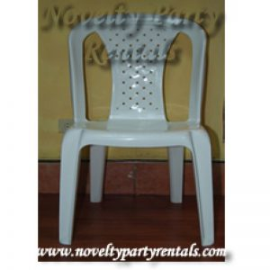 White Plastic Chair-0