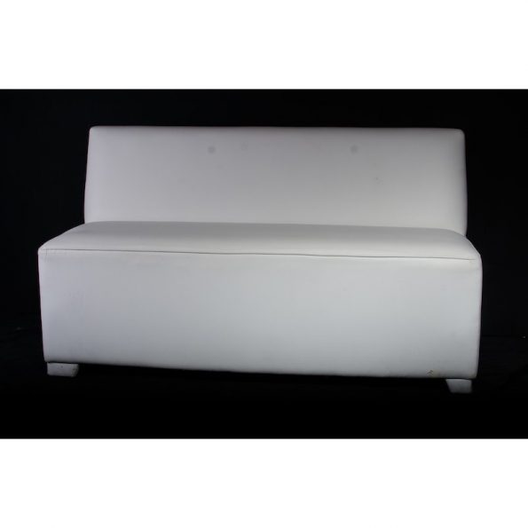 Pure 3  Seater Armless White Leather