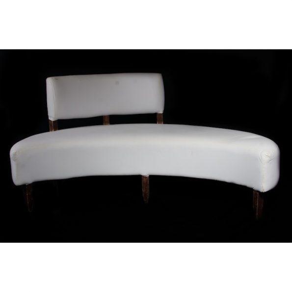 Semi Curve w/ Back White Leather