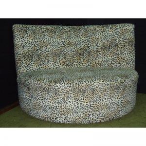 Cheeta Print semi Curve Sofa-0