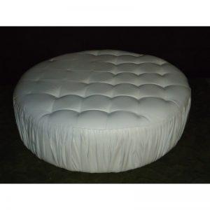 White Round Ottoman (Large)-0