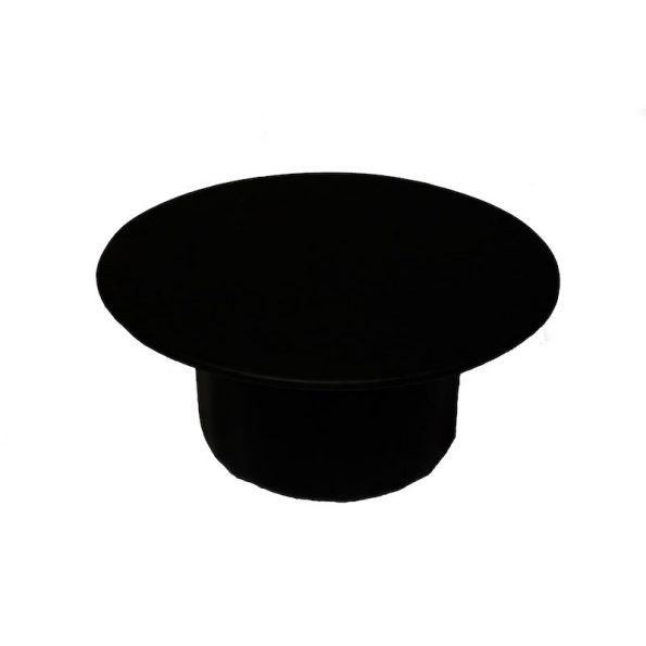 Round Black Leather Table-0